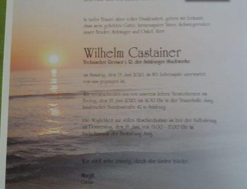 Der ASV Salzburg trauert um Willi Casteiner